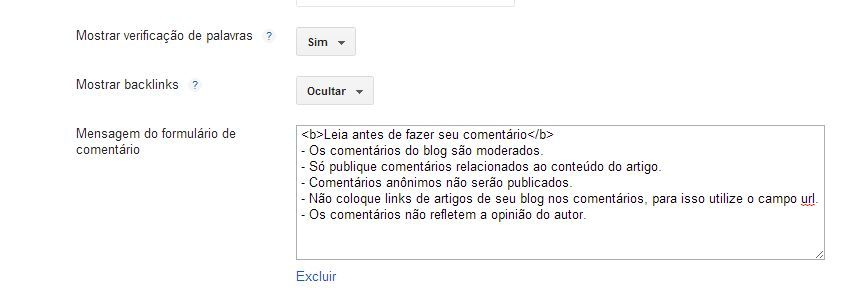 comentarios do blogger