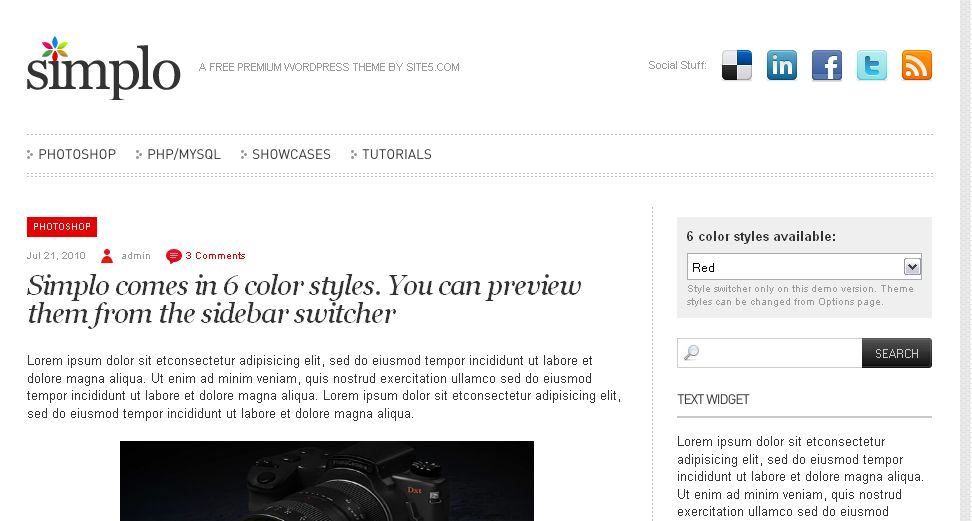 simplo, tema wordpress