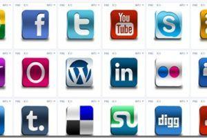 pacote icones redes sociais