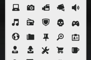 icones em preto e branco