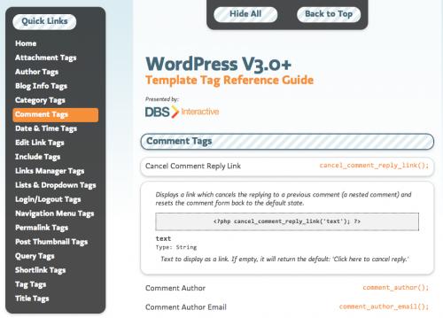 template, tags, wordpress, dicas wordpress