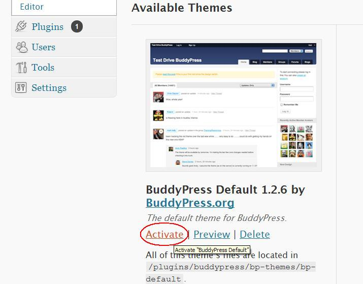 budypress, rede social, plugin wordpress