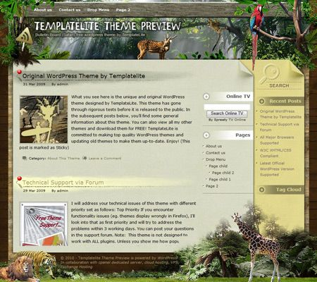 Bulletin Board Safari WordPress Theme