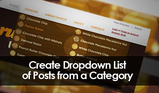 Create Dropdown List of Posts from a Category
