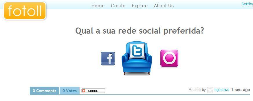 enquete, redes sociais, fotoll