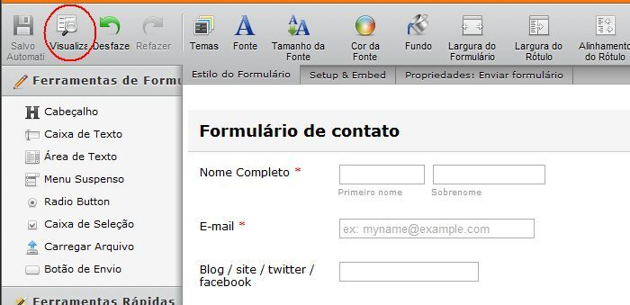 formulario, blogspot, contato