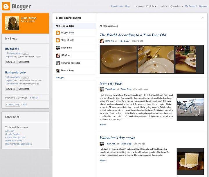 blogger, blogspot, novidades, painel, draft