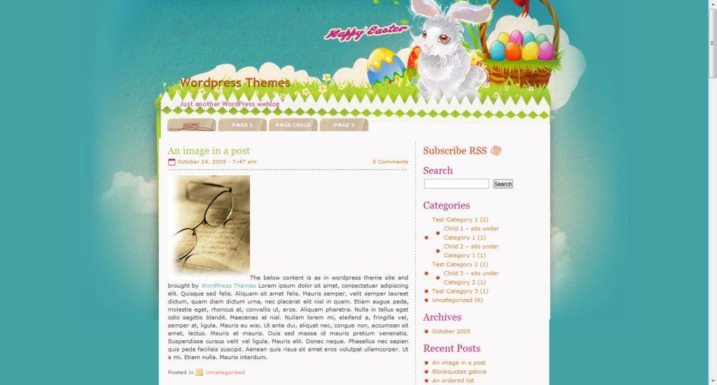 pascoa, template, tema, wordpress