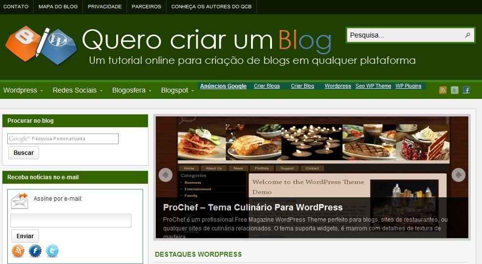 qcb, criar blog, quero criar blog