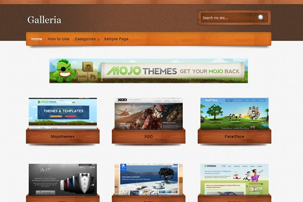 tema, temas, wordpress, galleria, template