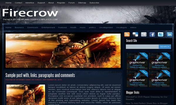 Template para blog de jogos / games