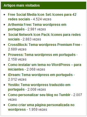 posts, populares, popular, artigos, mais vistos, visualizados