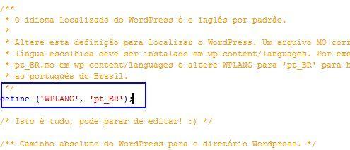wordpress, traduzir, portugues, brasil