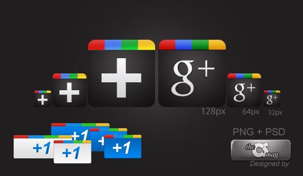 icones, pack, google+, plus