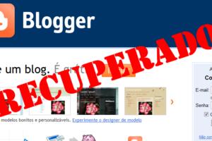 Como desfazer exclusão de seu blog