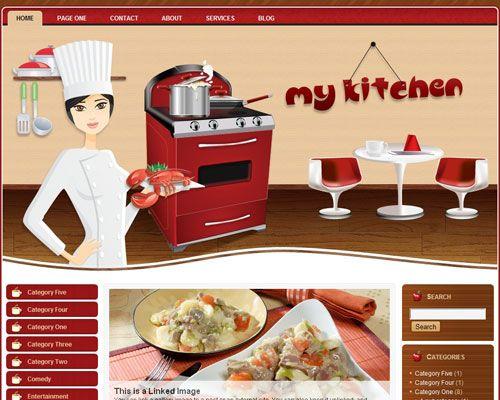 my kitchen, template, tema, wordpress, cozinha, receitas, chefe