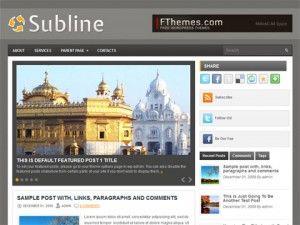tema, wordpress, wp, template, subline, 2 colunas, magazine