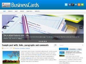 tema, template, wordpress, 2 colunas, negocios, business, card