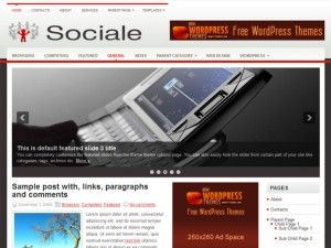 template, wordpress, sociale, tema, wp slide