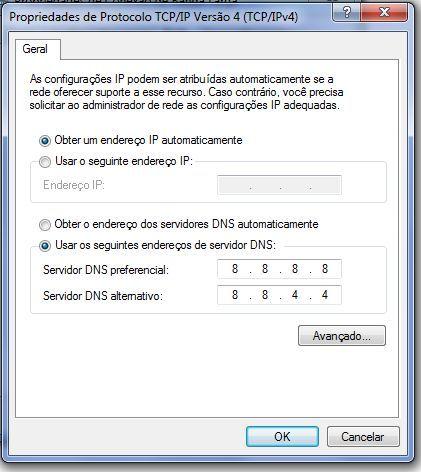 Configurar DNS Google 4