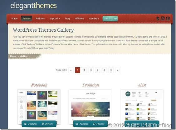templates wordpress premium elegant Themes