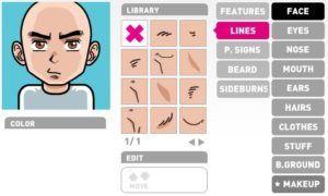 Interface do FaceYourManga - criando gravatar