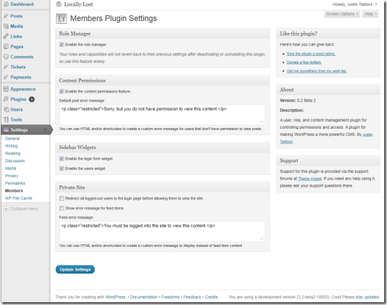 plugin members wordpress