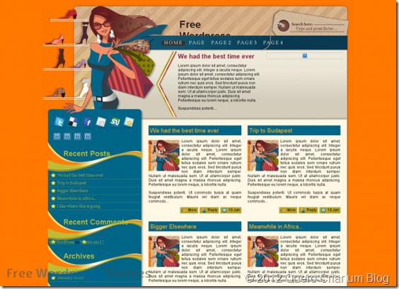 janine - tema wordpress para blog feminino