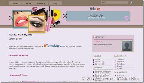 template blogger feminino3