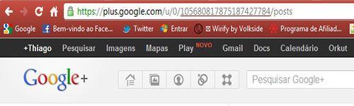 google + código do perfil