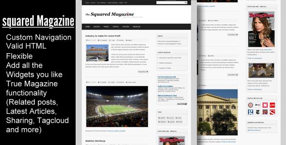 Template Squared Magazine