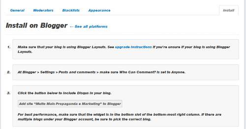 install blogger