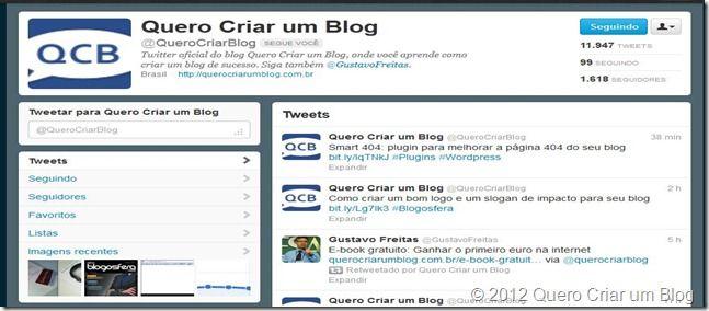 twitter quero criar um blog