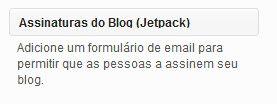 jetpack, feedburner, substituir, subscrição emails, cadastro, newsletter, gratis