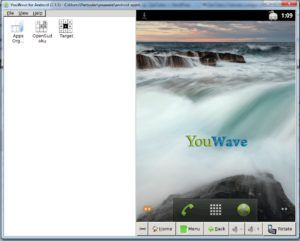 tela inicial youwave