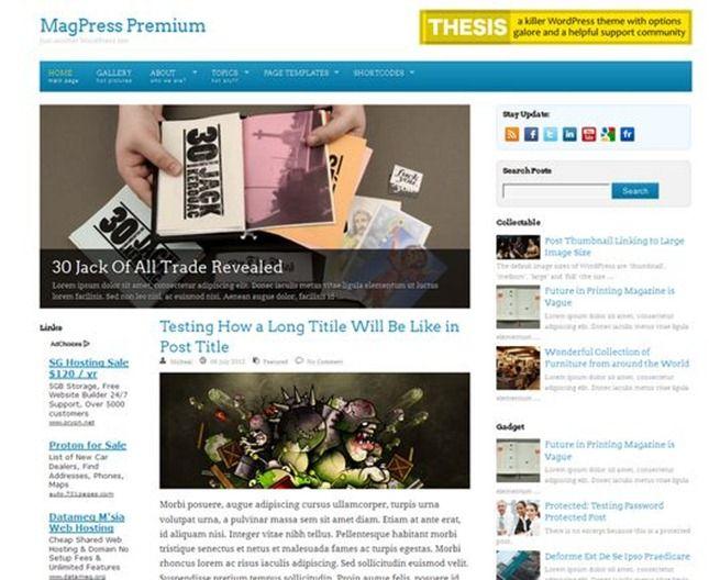 freshbit wordpress tema