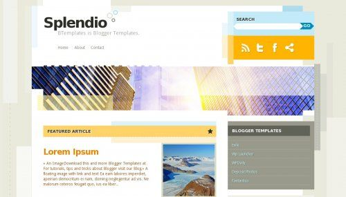 splendio-blogger-template