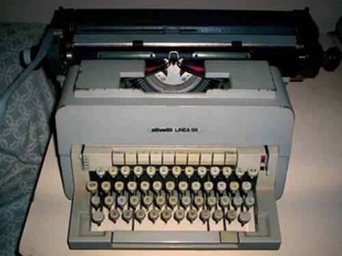 maquina de escrever olivetti linea 98