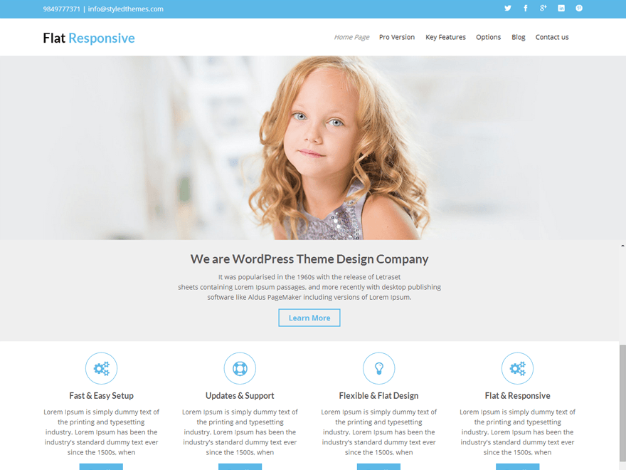 +1000 templates responsivos wordpress flat responsive