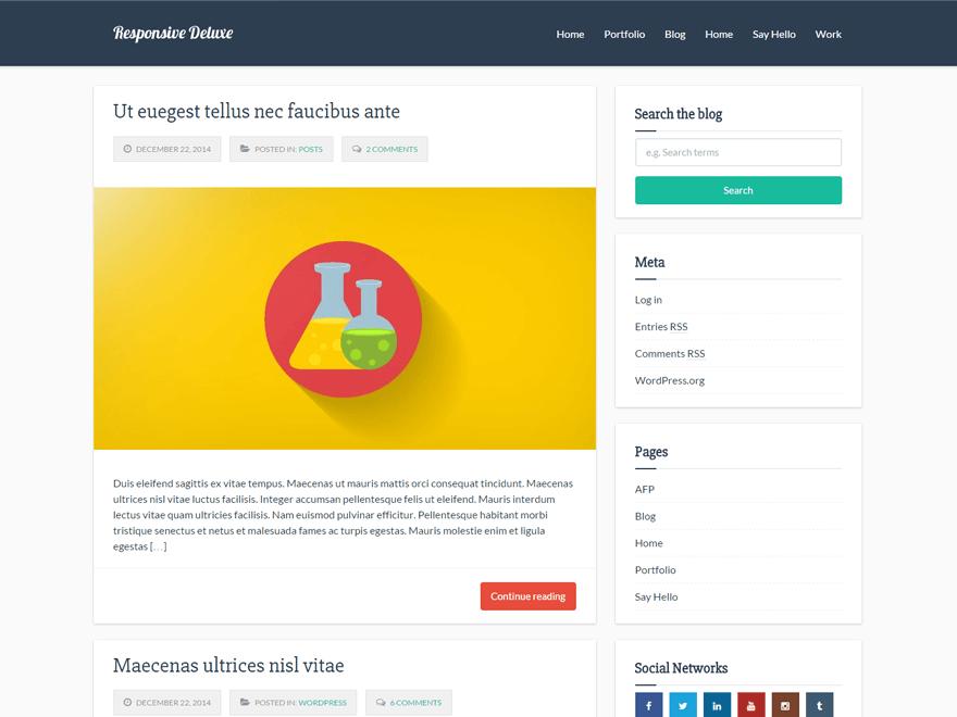 +1000 templates responsivos wordpress responsive deluxe