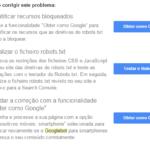 googlebot não consegue acessar os ficheiros css e js