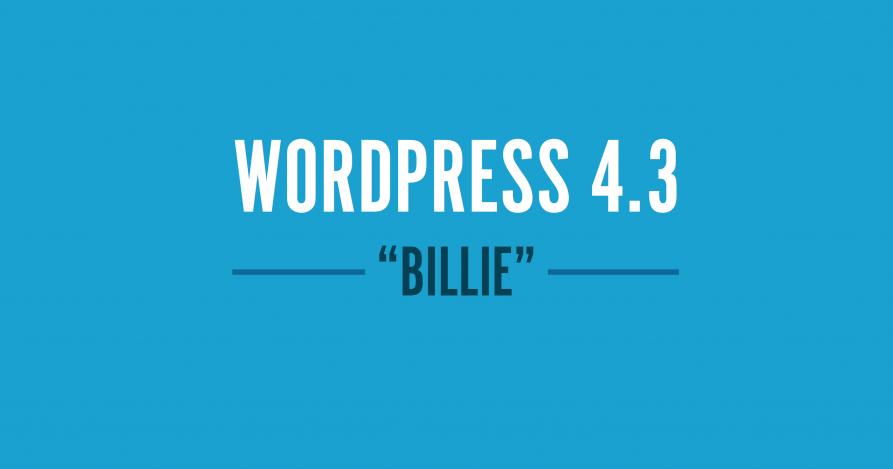 wordpress 4.3 novidades