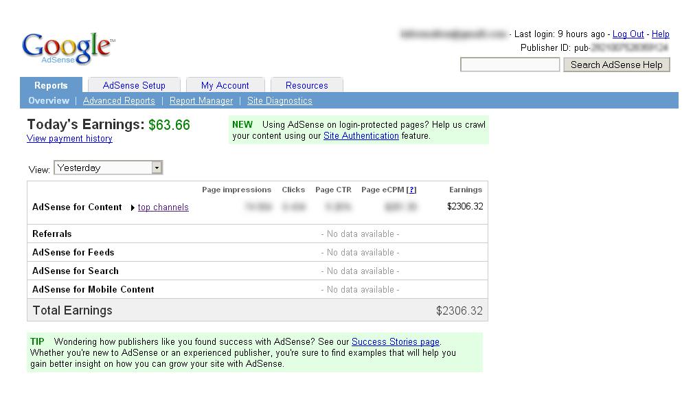 $2.306 em um só dia no Google Adsense, novo recorde e como você também pode fazer ainda hoje