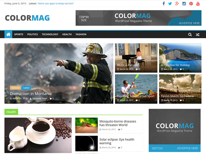ColorMag Template WordPress Google Adsense