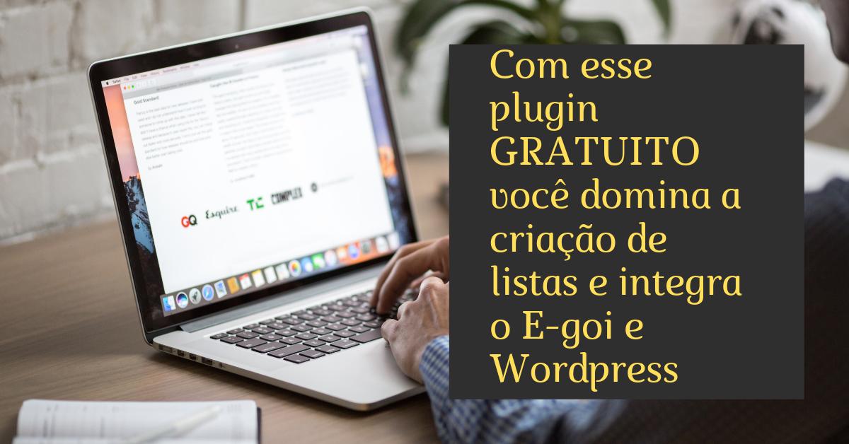 Com esse plugin GRATUITO você domina a criação de listas e integra oE-goi e WordPress